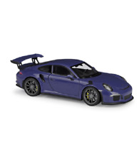 Welly 1:24 2016 Porsche 911 GT3 RS Diecast Model Sports Racing Car Purple NIB