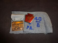 Military American Legion Enamel Pin Chef de Gare 40/8 LOT Pin Medal On Fabric PA