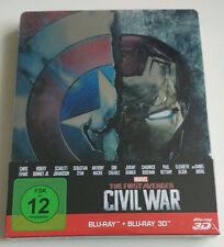 The First Avenger Civil War 3D 2D | 2-Discs Limited Steelbook Edition NEU NEW