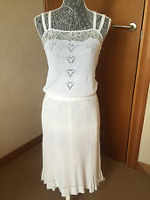 (1) Chanel CC Women's Runway White Lace 3-Layer Dress Clothes - Size 40