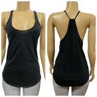 Victorias Secret Thin Strap Racerback Tank Top Shirt Black