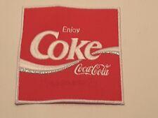"New Coke Coca-Cola patch 1980's app. 5"" x 5 1/4"""