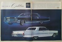 1963 Cadillac Fleetwood series sixty special sixty-two Coupe car two-page ad