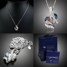 """""""Herz"""" Original Halskette Geschenk Etui Set /verziert mit Swarovski® Kristall"""