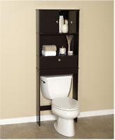 Over The Toilet Bath Storage Shelf Cabinet Space Saver Bathroom Organizer Brown