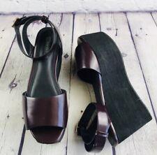 Forever 21 Burgundy Goth Creeper Platform Strap Sandals Size 5.5