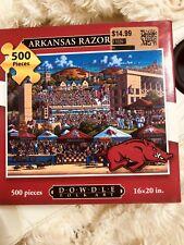 Arkansas Razorbacks Puzzle Christmas Gift Family Time Dowdle Folkart 16x20 SEC
