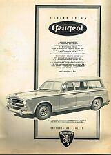 C- Publicité Advertising 1956 Peugeot 403  U 5 Limousine Commerciale