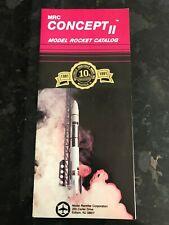 Vintage MRC Concept II  1991 Model Rocket Rocketry Catalog