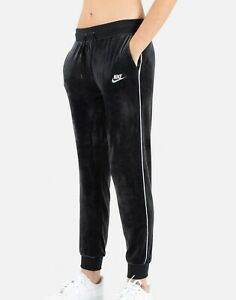 Nike Womens Sportswear Velour Heritage Sweatpants Jogger Pants Blk BV5035-010 XL