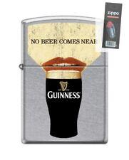 Zippo 6425 Guinness Beer No Beer Comes Near Lighter + FLINT PACK
