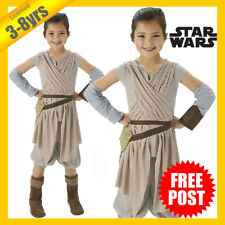RD Girls Costume Fancy Dress Licensed Star Wars Rey Force Awakens Deluxe 5225