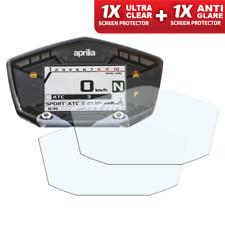 Aprilia Dorsoduro 900 Dashboard Screen Protector: 1x Ultra-Clear & 1x Anti-Glare