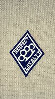 Diamond Patch Respect & Loyalty Brass Knuckle  1%er Black & White 2 Borders