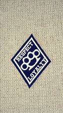 Diamond Patch Respect & Loyalty Brass Knuckle  1%er Black & White 2 Borders