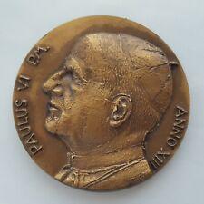 Vatican Greco Art. Medal Paulus VI Anno XIII, 44 mm, 46 gr