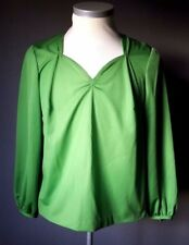 Abendbluse,Festbluse,Elegante Damen Bluse Gr. 46 grün Unikat