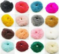 Fashion Women Fluffy Faux Fur Furry Scrunchie Elastic Hair Ring Rope Band Tie *1