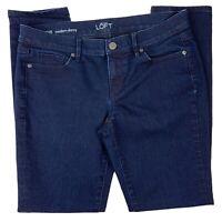 Ann Taylor Loft Womens Modern Skinny Dark Wash Blue Denim Jeans Size 29/8