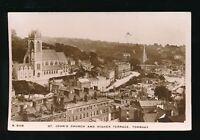 Devon TORQUAY St John's Church Higher Terrace 1914 RP PPC by Kingsway
