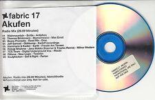 FABRIC 17 Akufen Radio Mix 2004 UK promo only CD