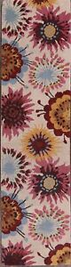 "Tropical Hand-Tufted Transitional Floral Oriental Runner Rug Wool 9' 10"" x 2' 6"""