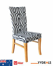 Dining Chair Cover Armless Stretch Slipcover - Sure Fit Zebra Print Dining Chair