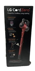 BRAND NEW LG CORDZERO A9 CHARGE CORDLESS STICK VACUUM A905RM Red