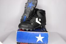 Vtg 90s New Converse Mens Size 11.5 Raider St Hi Lea Mesh Football Cleats Black