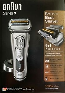 Braun Series 9 9350s Latest Generation Electric Shaver + Charging Stand - SILVER