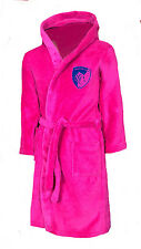 GIRLS 8 9 years LEICESTER TIGERS Dressing Gown Pyjamas Rugby Bath Robe Kids wo