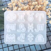 Resin Crystal Epoxy Mold Earrings Pendant Jewelry Casting Silicone Mould UK NW