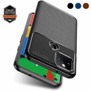 For Google Pixel 5 4a 5G 4XL Case Slim-Fit Shockproof Carbon Fiber Style Cover