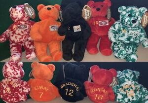 5 SALVINOs 1990s BAMMER Football SUPER BOWL QBs Quarterback Bean Bag Toys PLUSH