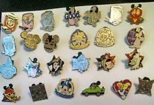Disney's Hidden Mickey Pins Group of 25 Pins Mickey,Minnie,Tinkerbell,Figment,et