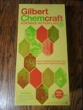 Unused Vtg Gilbert Chemcraft Portable Action-Lab Steel Chemistry Set w/ Racks