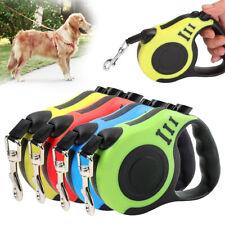 3/5M de largo cuerda extensible de cinta retráctil perro Plomo Correa Para Mascota Perro Gato Hl