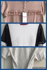 3x Supre, Boohoo And Kmart: WhIte, Pink And Striped Tshirts/ Tops: Size Xs/6