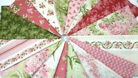 SENSIBILITY Maywood Studio Shabby Chic Quilting Fabric ~ 16 Fat Quarters 4 yards