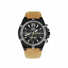 Reloj Cerruti Negro Reloj para Hombre Analógico Cuarzo con Brazalete Piel marron