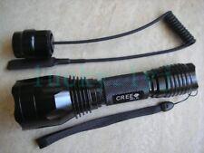 Long Throw CREE XM-L T6 LED 1-mode Flashlight + Pressure Remote C10