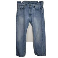 American Eagle Mens Blue Relaxed Fit Straight Leg Denim Jeans Size 33/32
