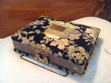 Antique Victorian Velvet W/Brass Accents Photo Album W/Wedding & Portrait Photos