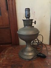 Antique Aladdin Metal Oil Or Kerosene Lamp Converted To Electricity