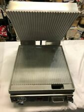 Star Pgt14t Single Commercial Panini Press With Aluminum Grooved Plates 120v