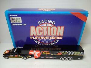 1995 Dale Jarrett #28 Texaco Havoline 1:64 Dually With Trailer NASCAR Action MIB
