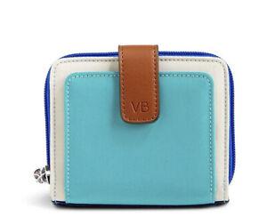 NWT Vera Bradley Cool Lagoon Lighten Up RFID Pocket Wallet Bird Lining Blues $48