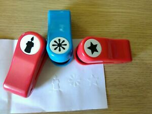 Three Embossing Paper Punchers For Card Making, Scrapbooking. Candle star flower