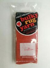Red Heart Latch Hook Bulky Rug Yarn - 605 Autumn Flame - 320 Pieces
