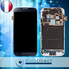 Ecran vitre complet chassis pour Samsung Galaxy S4 Advance i9506 noir bleu/gris